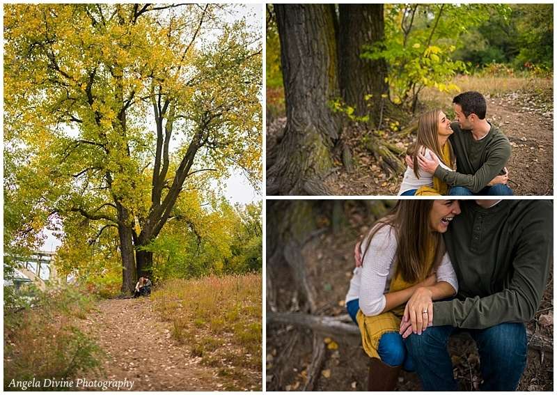 East River Parkway Minneapolis Engagement Session Photographer