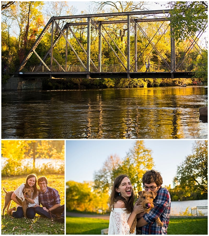 boom island park north east minneapolis engagement session