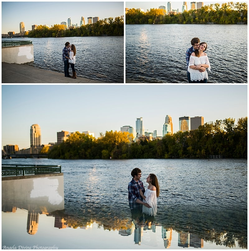 boom island park north east minneapolis engagement photography