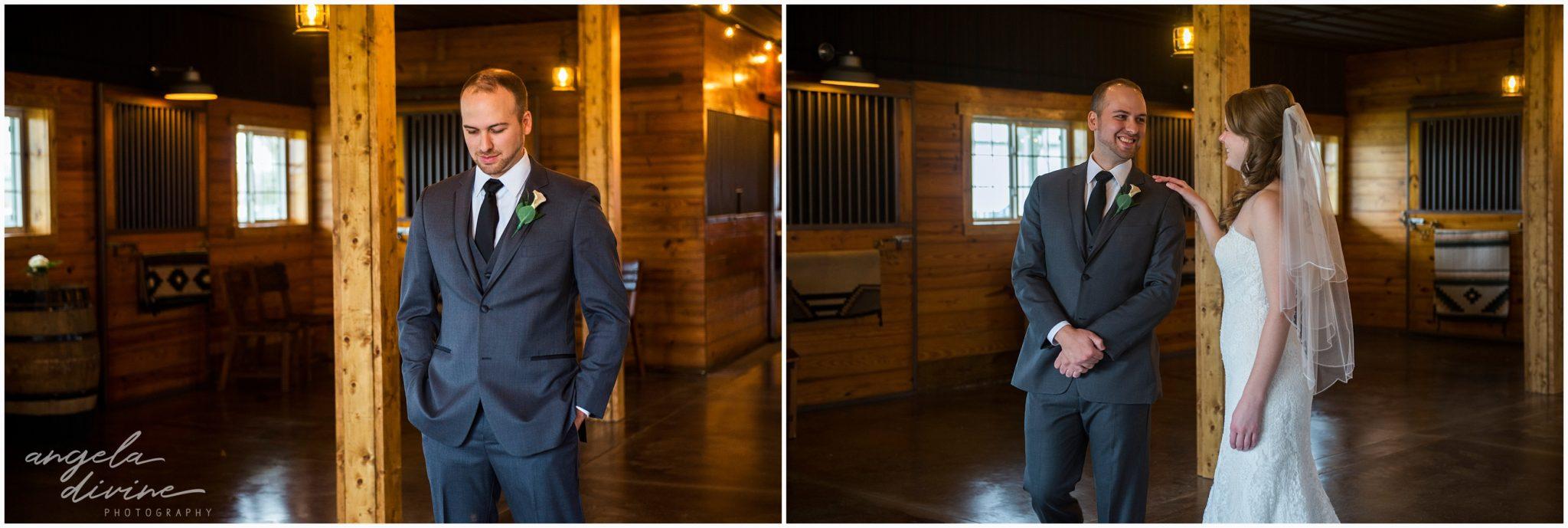 Carlos Creek Winery Wedding First Look