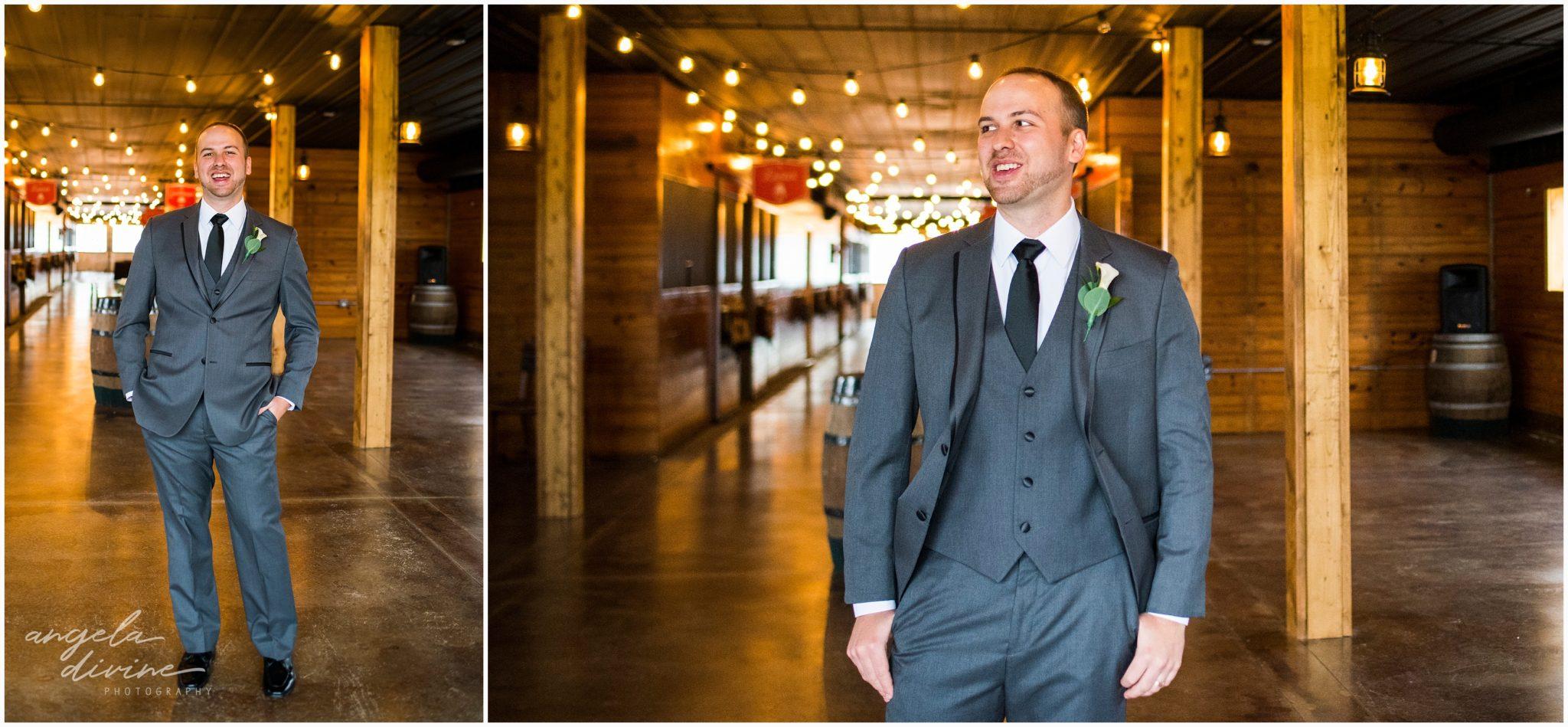 Carlos Creek Winery Wedding Groom