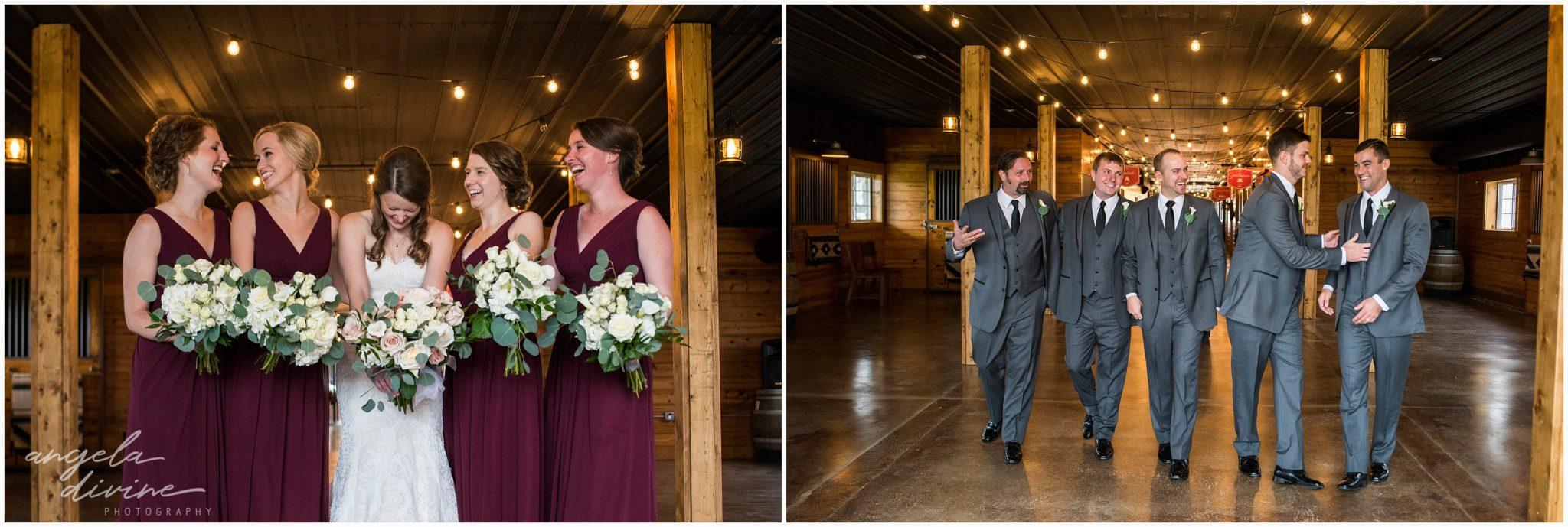 Carlos Creek Winery Wedding Party