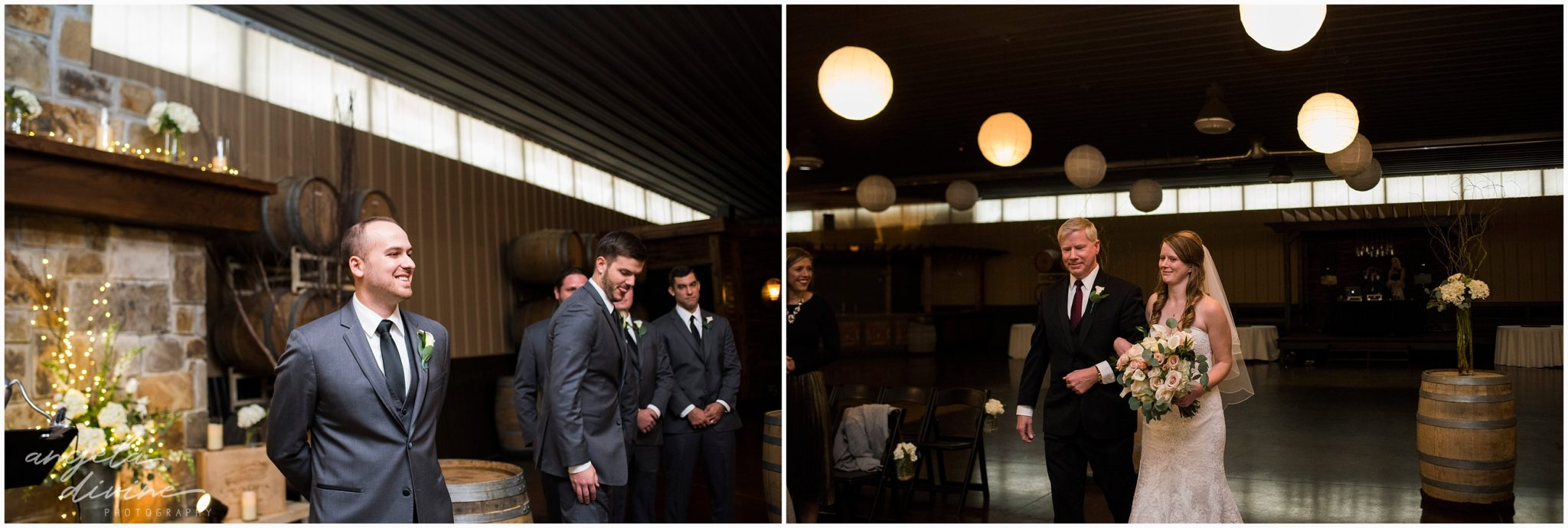 Carlos Creek Winery Wedding Ceremony Aisle