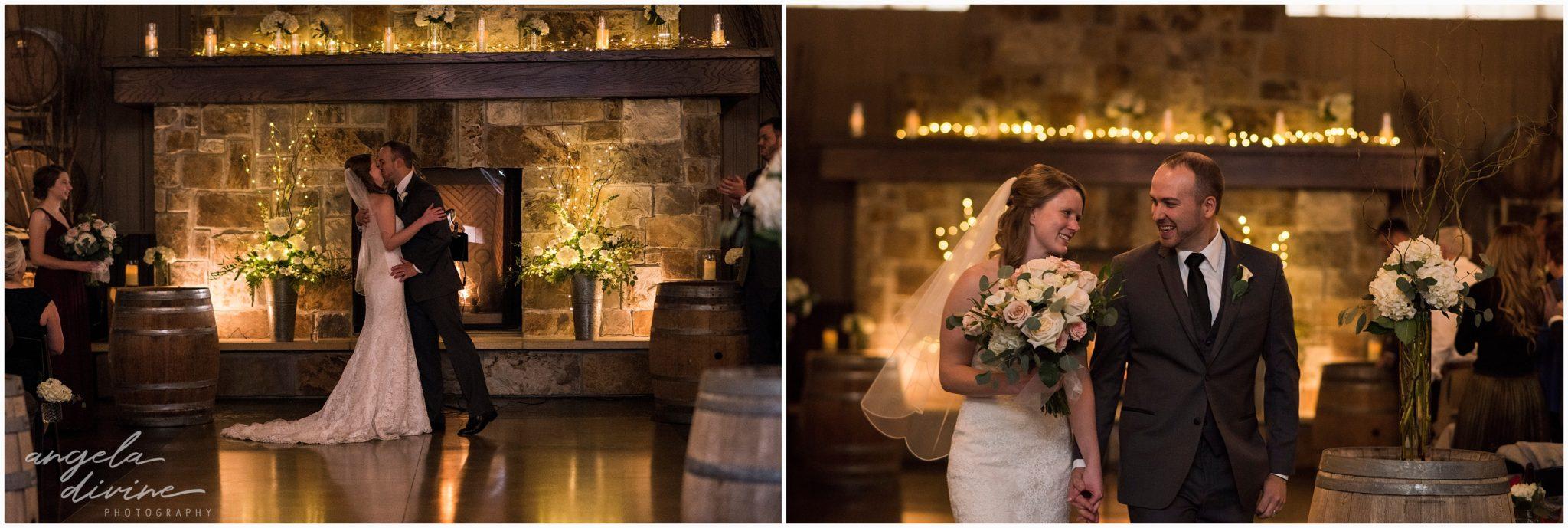 Carlos Creek Winery Wedding Ceremony End
