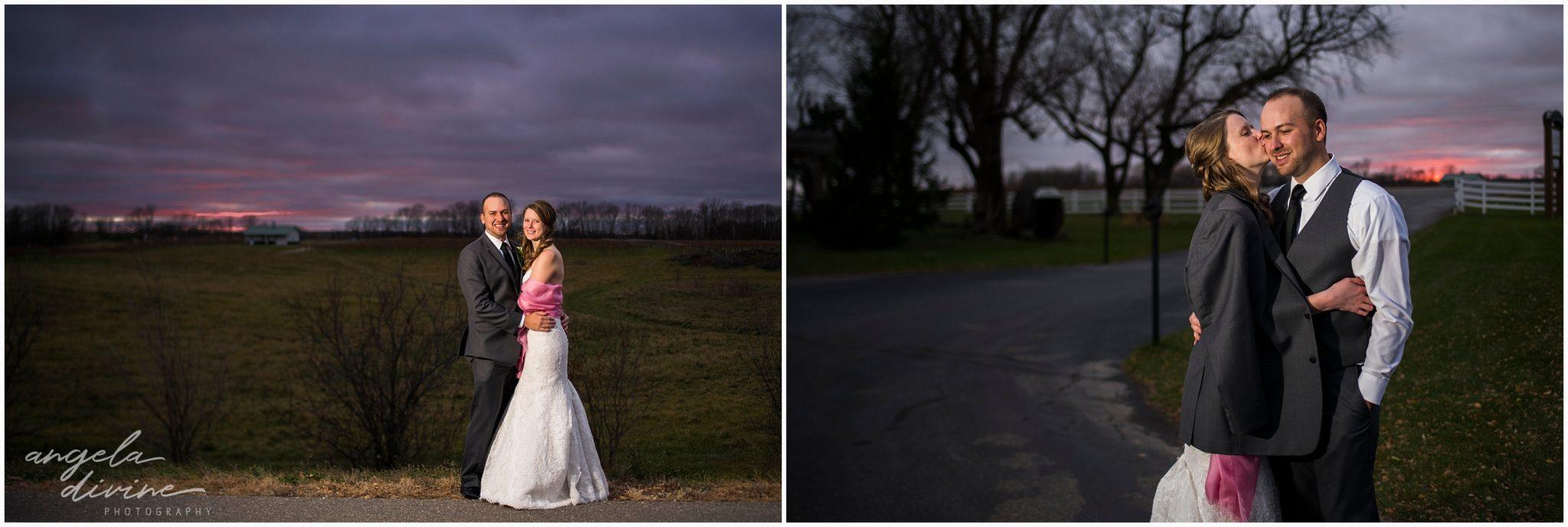 Carlos Creek Winery Wedding Sunset