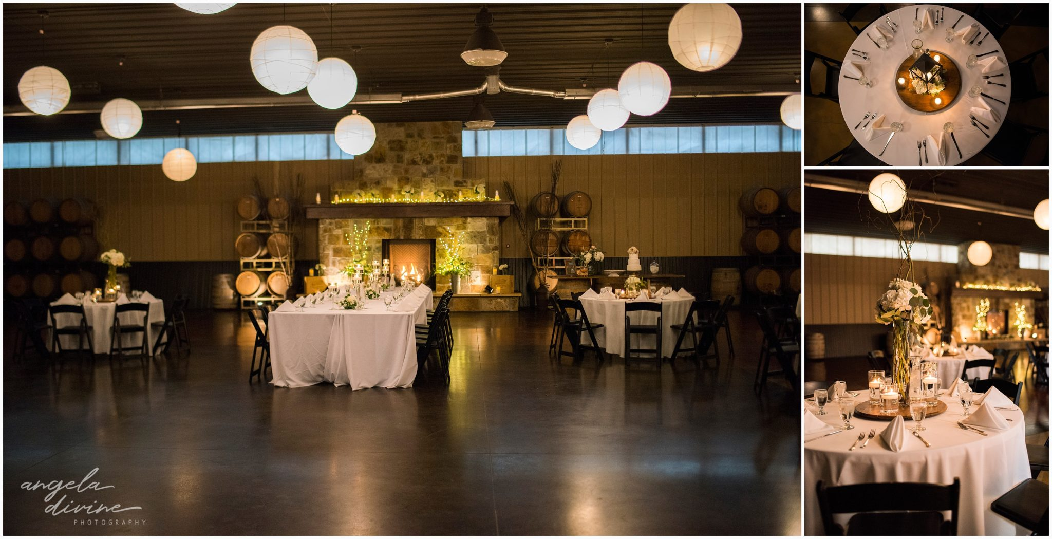 Carlos Creek Winery wedding reception details