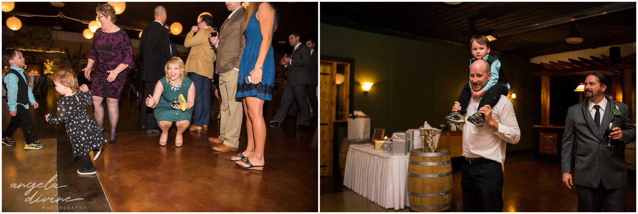Carlos Creek Winery wedding reception guests