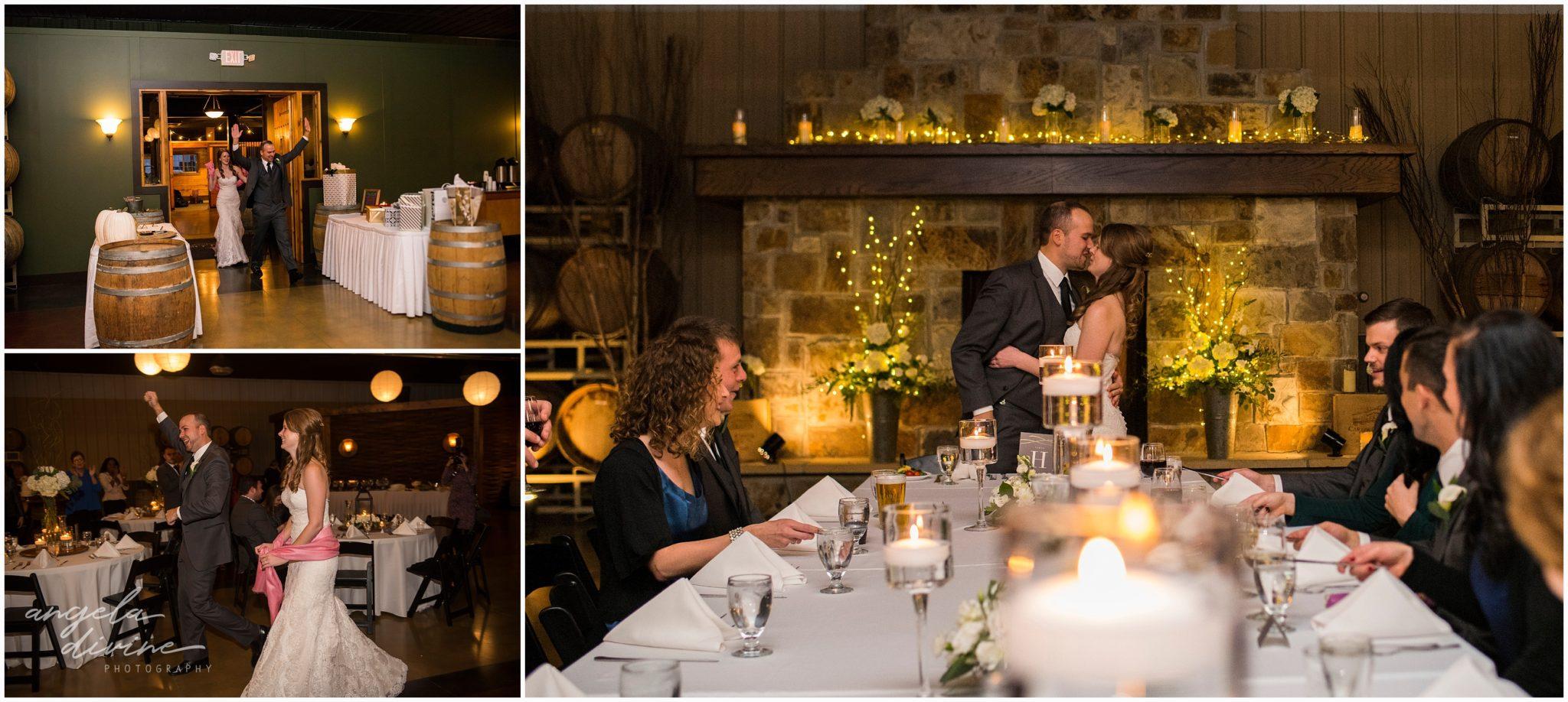 Carlos Creek Winery wedding grand march