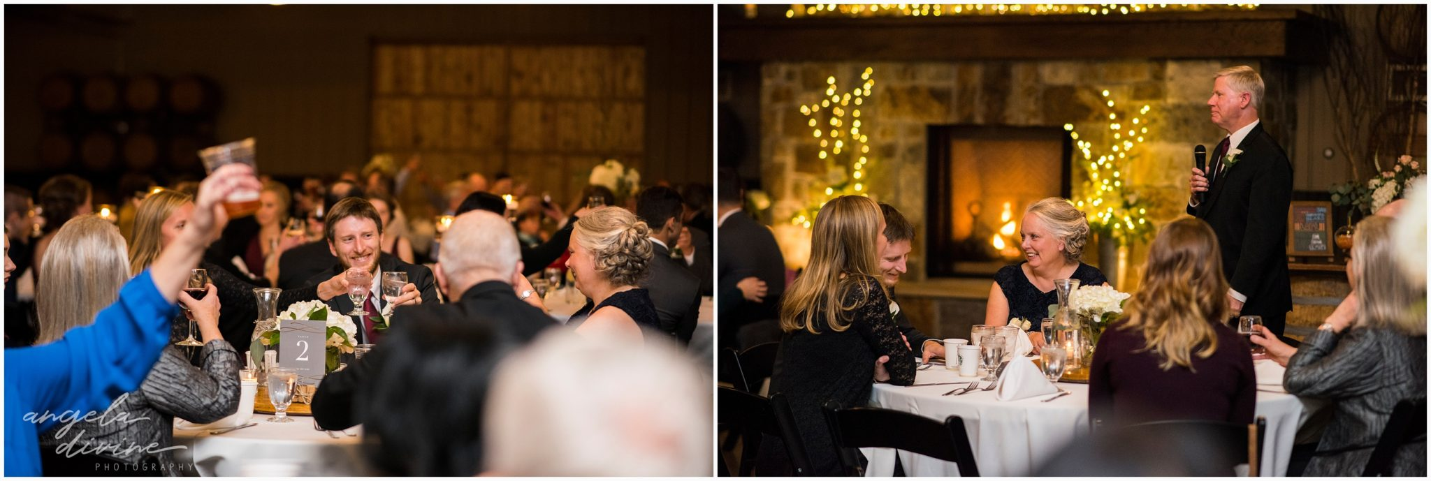 Carlos Creek Winery wedding toasts