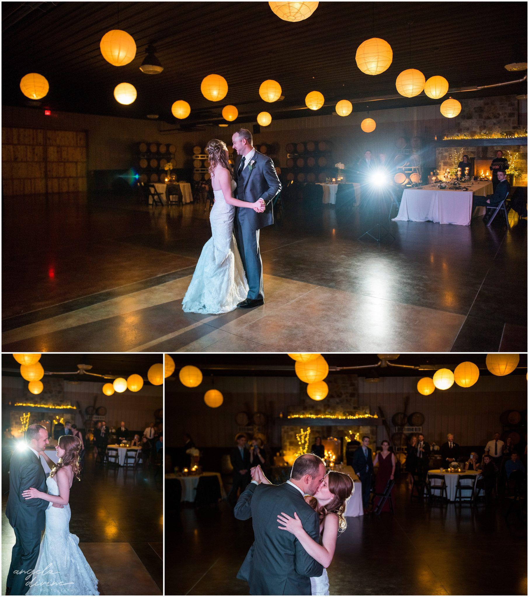Carlos Creek Winery wedding first dance