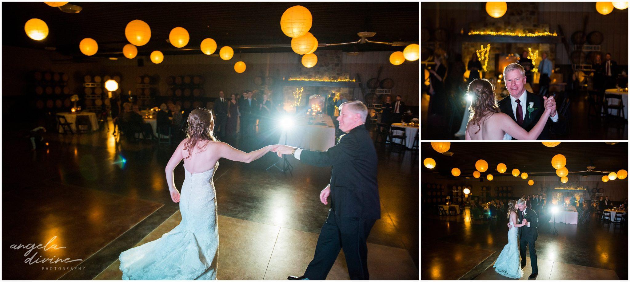 Carlos Creek Winery wedding father daughter dance