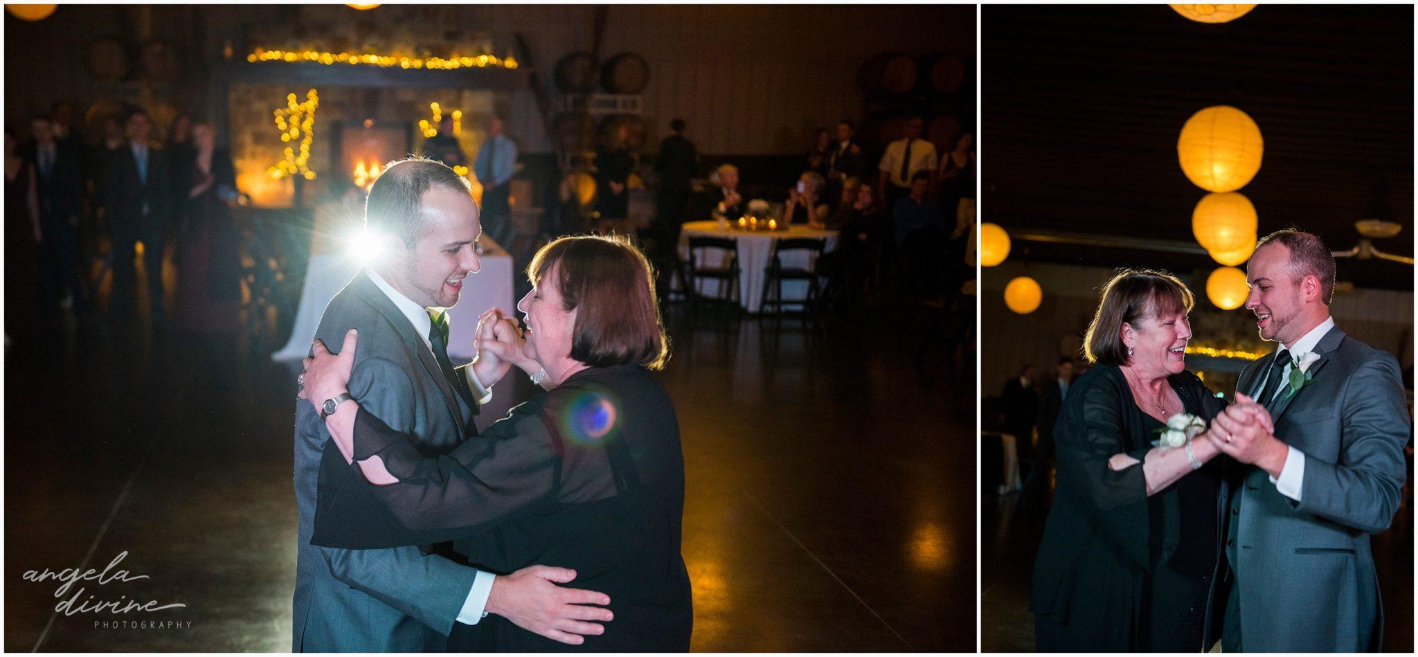 Carlos Creek Winery wedding mother son dance