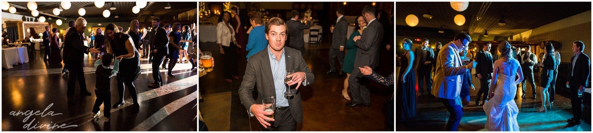 Carlos Creek Winery wedding dance floor