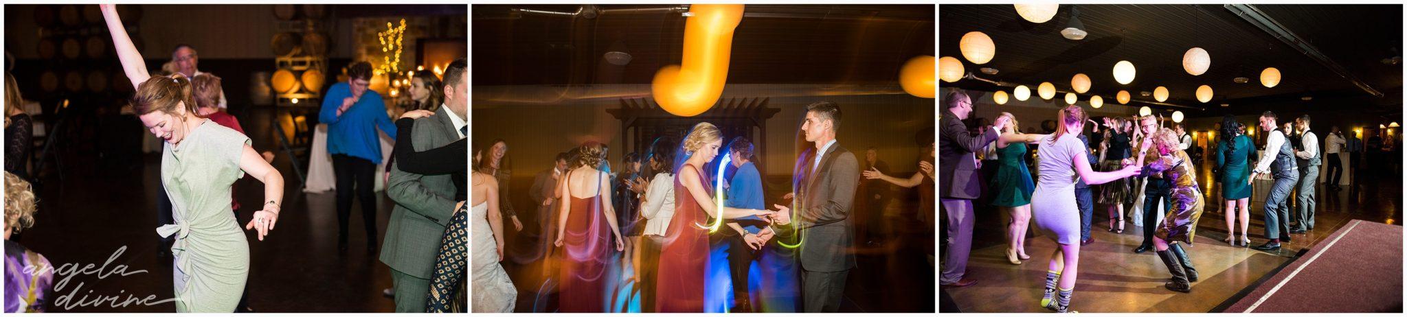 Carlos Creek Winery wedding dance party