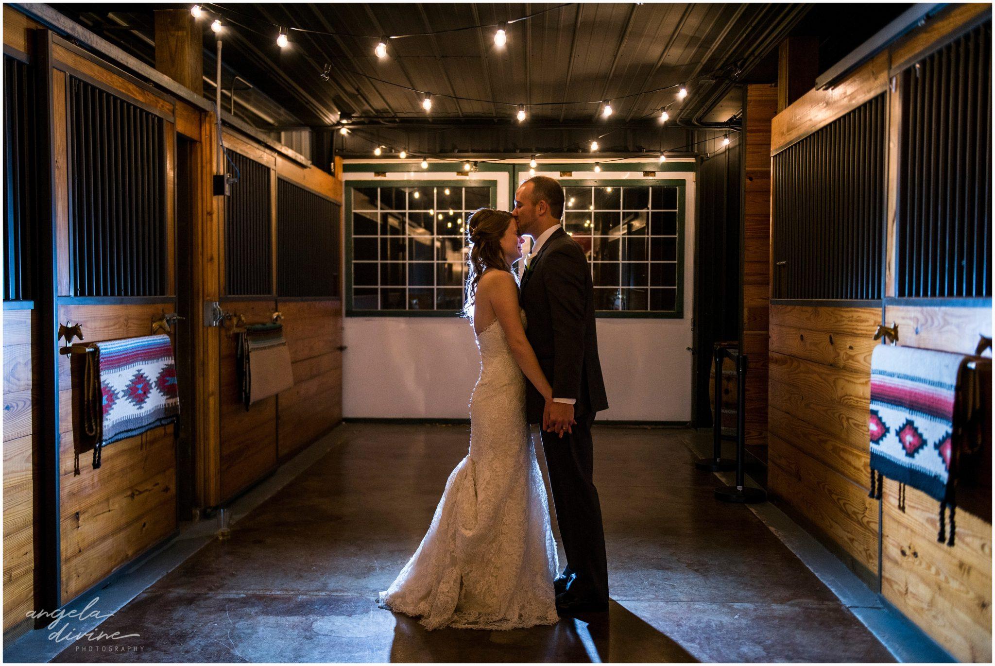 Carlos Creek Winery wedding night photography