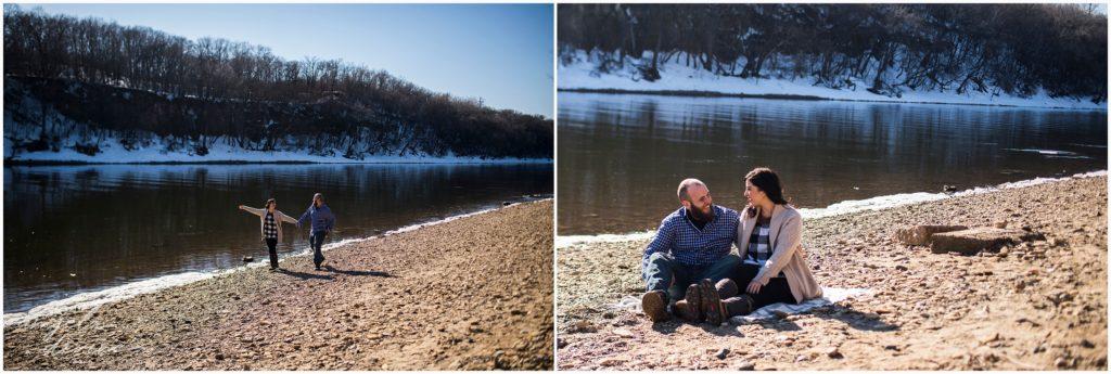 St. Paul Engagement Session Hidden Falls Park