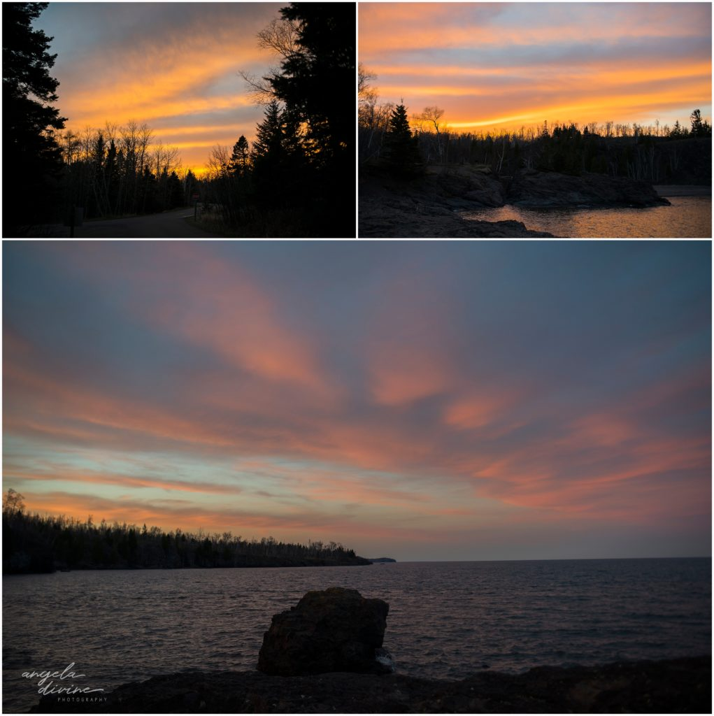 Gooseberry Falls Minnesota Sunset