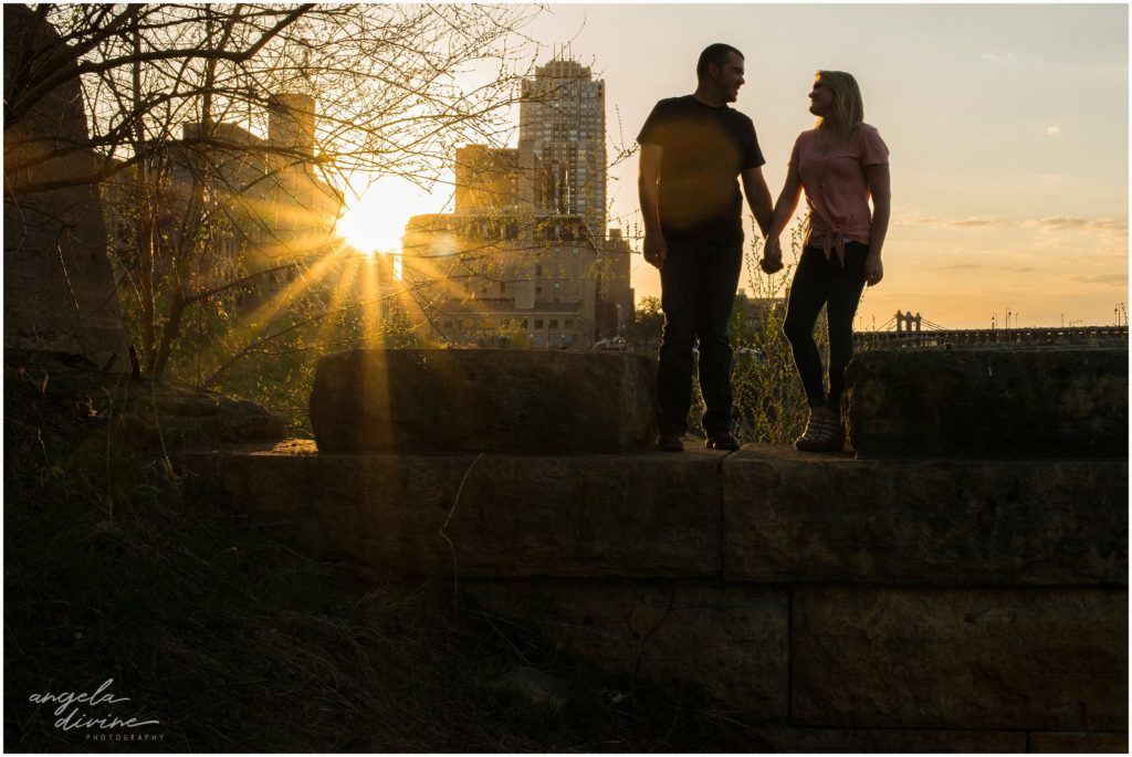 mill ruins park engagement session