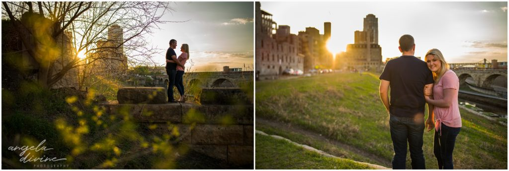 millruinsparkengagementsession_0216mill ruins park engagement session downtown minneapolis skyline