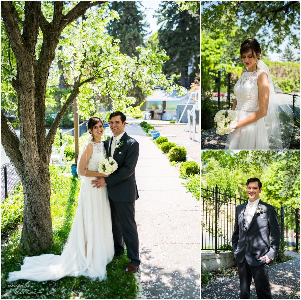 University Club wedding bride and groom