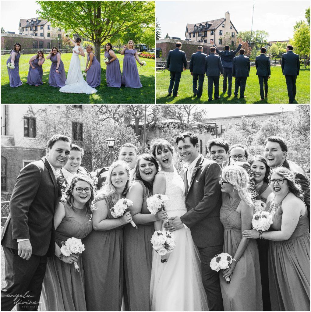 University Club wedding wedding party