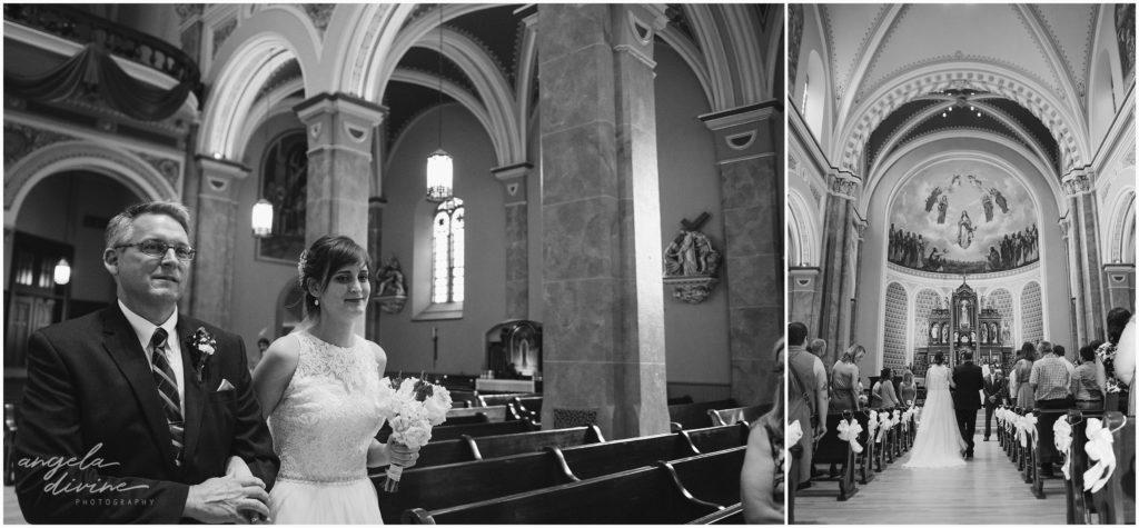 University Club wedding church of assumption bride and father