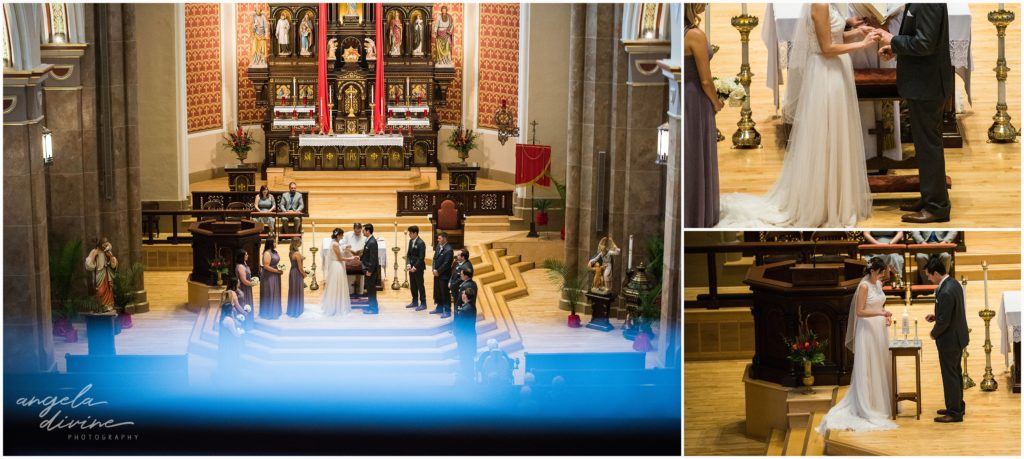 University Club wedding church of assumption ceremony