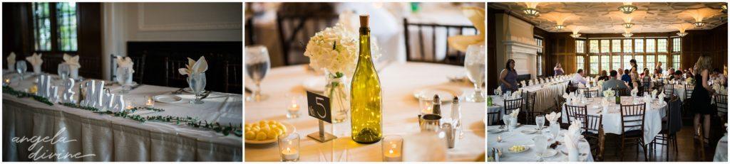 University Club wedding details