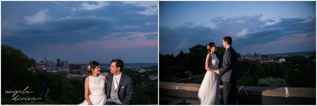 v=University Club wedding sunset