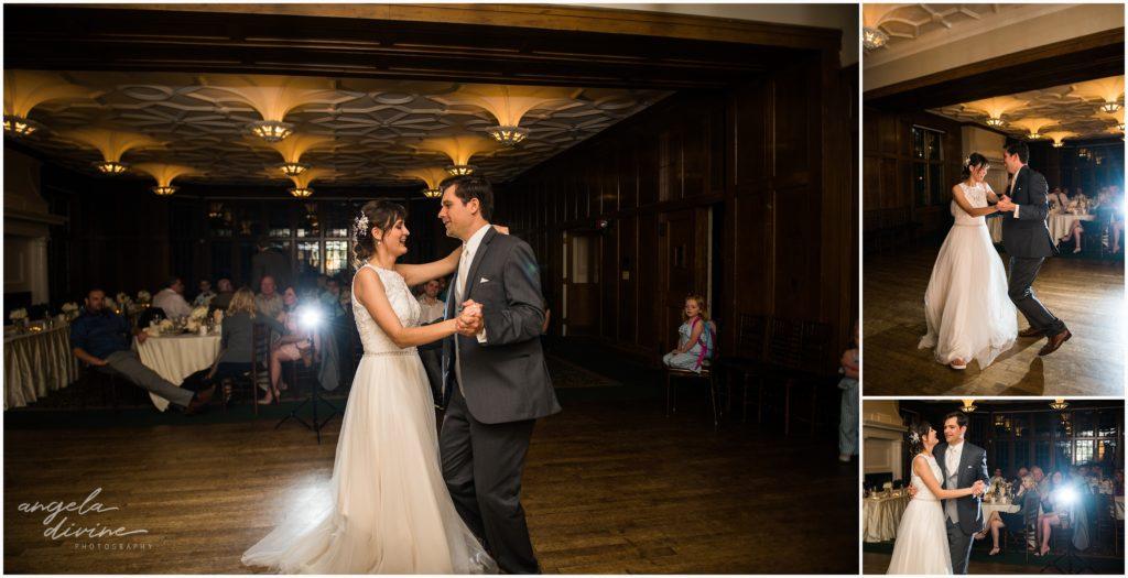 v=University Club wedding first dance