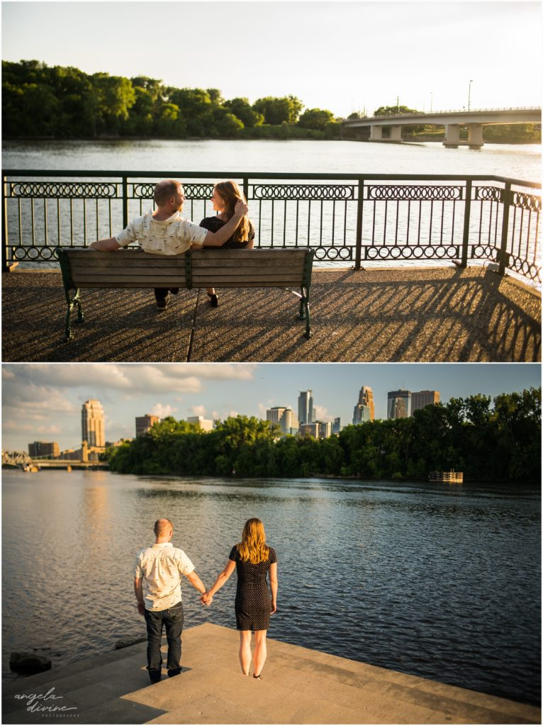 Boom Island Park Nicollet Island Engagement Session River