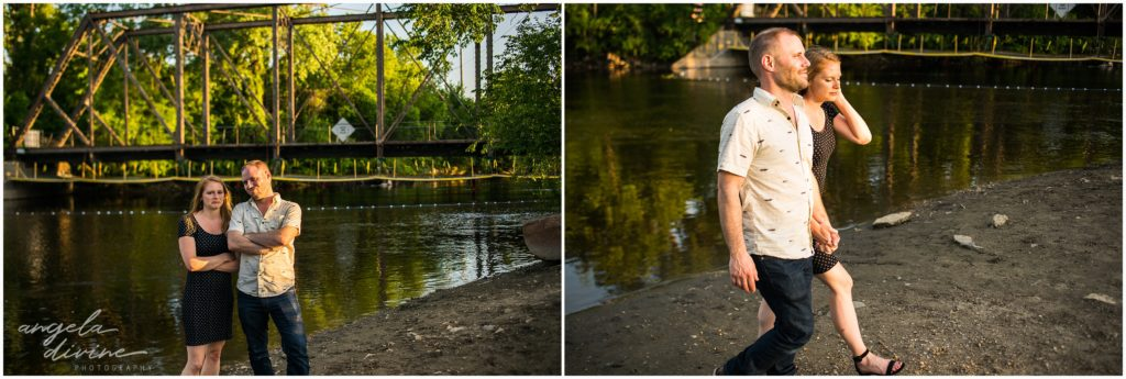 Boom Island Park Nicollet Island Engagement Session Construction