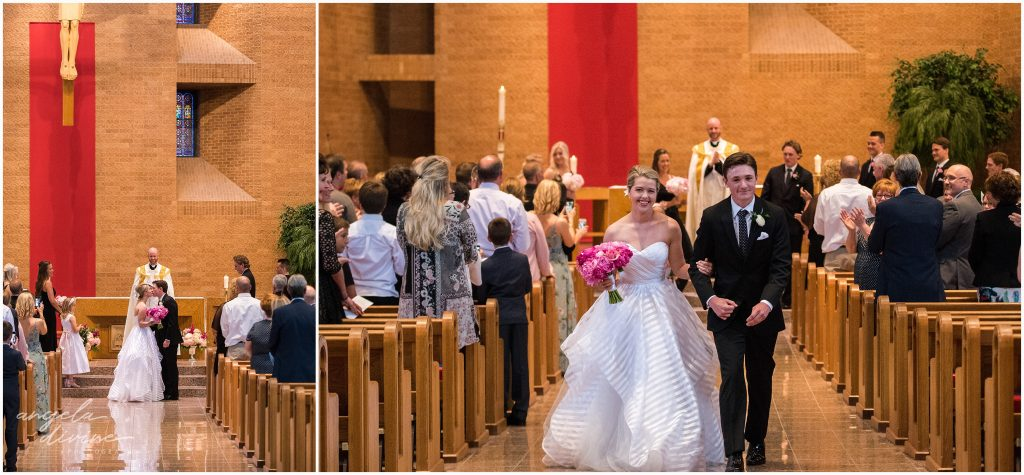 Westin Edina Galleria Wedding All Saints Catholic Church Ceremony Processional