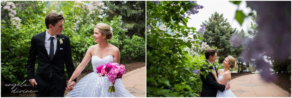 Westin Edina Galleria Wedding Centennial Lakes Bride and Groom