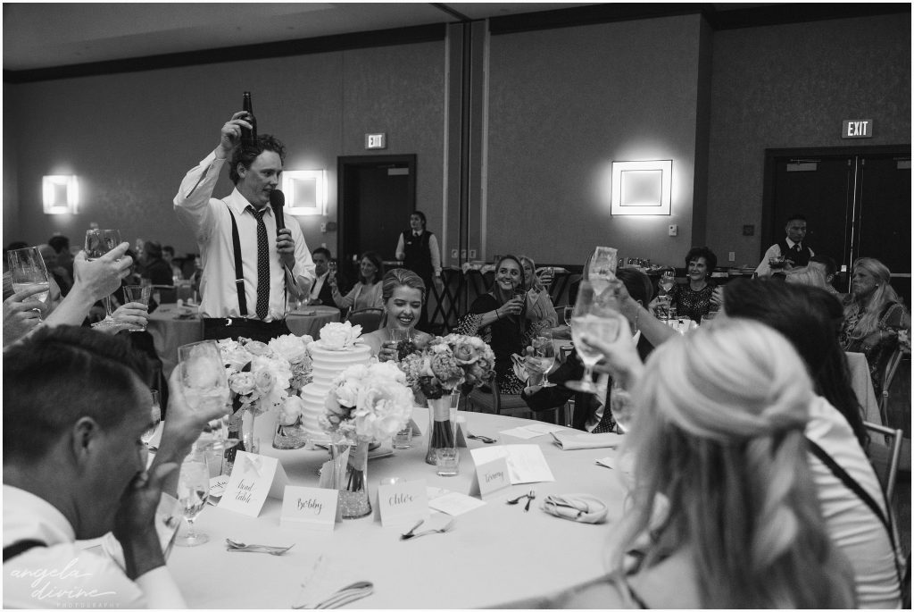 Westin Edina Galleria Wedding Reception Best Man Toast