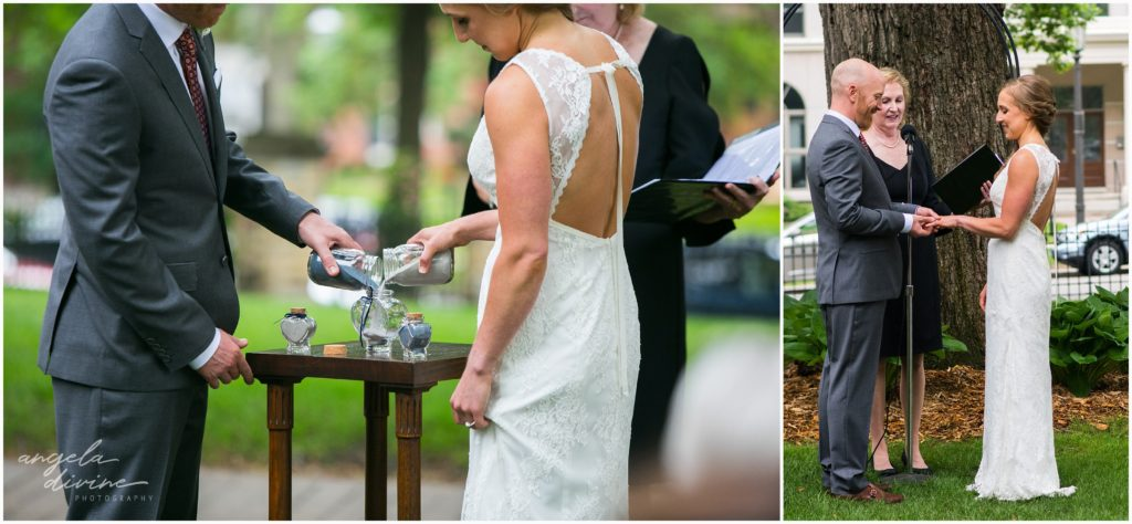 summit manor wedding outdoor sand ceremony