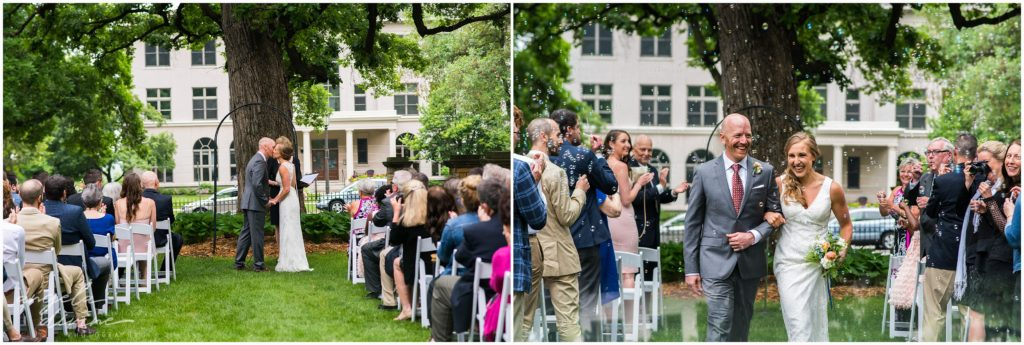 summit manor wedding outdoor ceremony