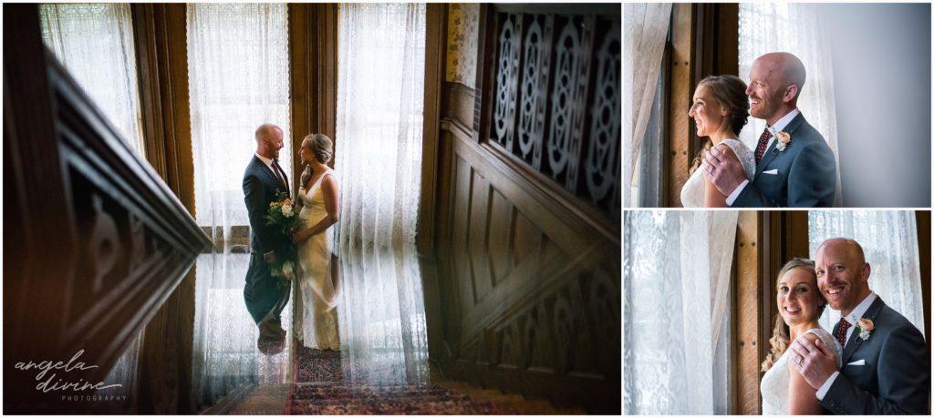 summit manor wedding staircase