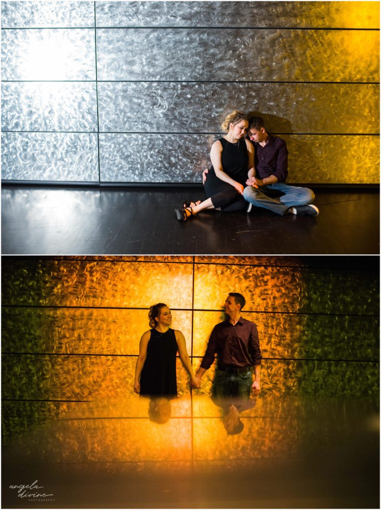 Minneapolis engagement session guthrie theater