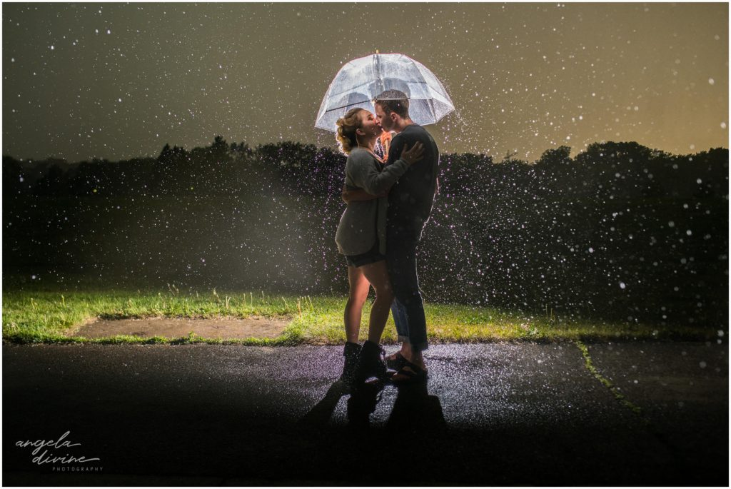 rainy minneapolis engagement session
