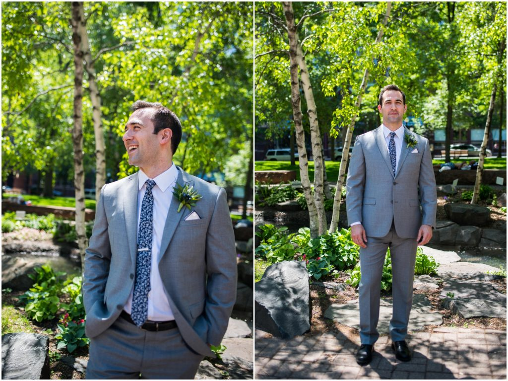 lowertown event center groom portraits