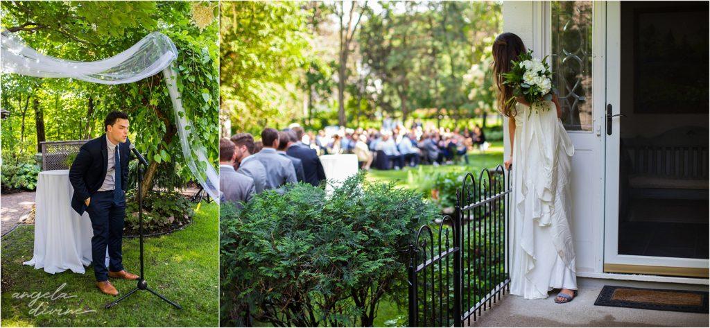 hotel landing wayzata wedding ceremony bride