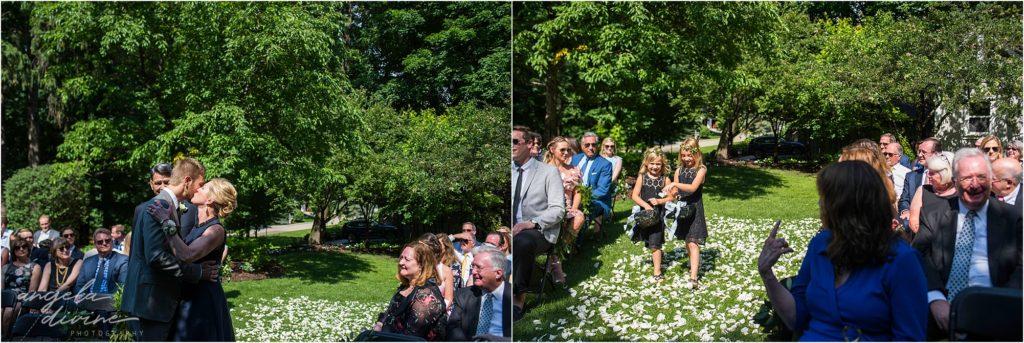 hotel landing wayzata wedding ceremony aisle walk