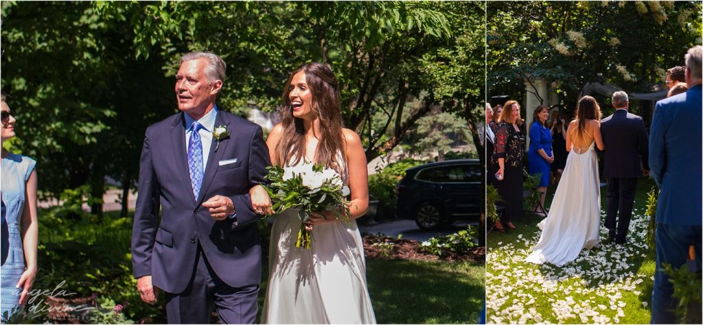 hotel landing wayzata wedding ceremony bride and dad