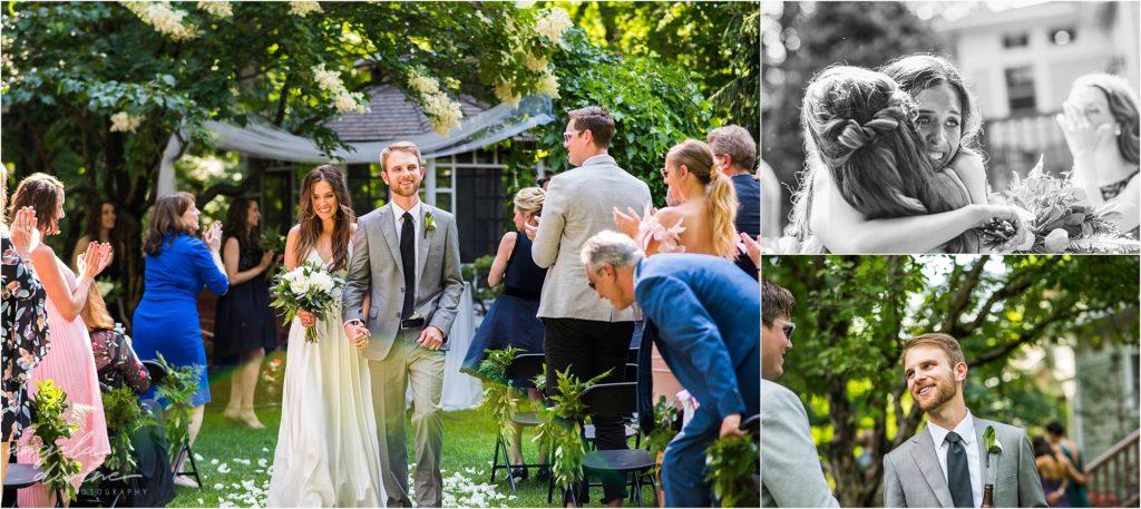 hotel landing wayzata wedding in a backyard