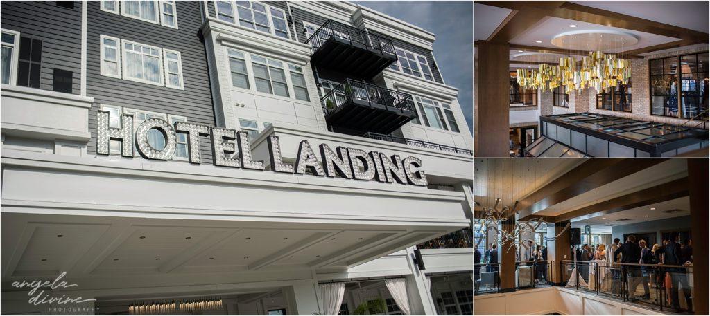 hotel landing wayzata wedding exterior