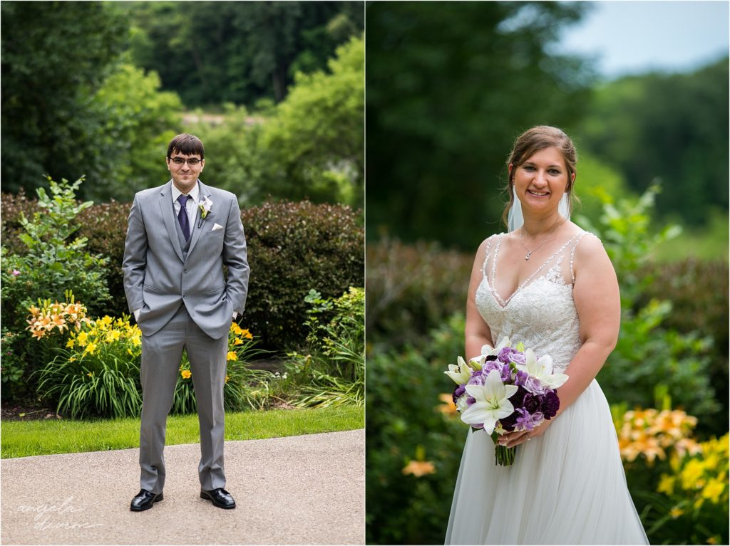 oak ridge conference center wedding bride and groom separate