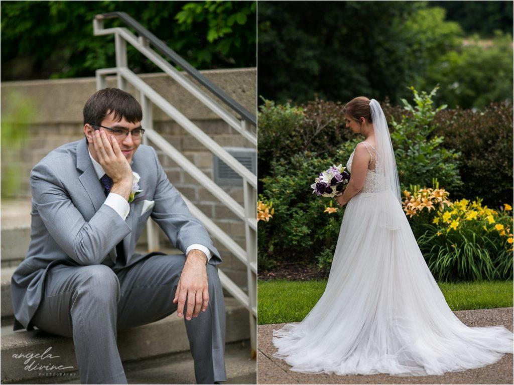 oak ridge conference center wedding bridal portraits