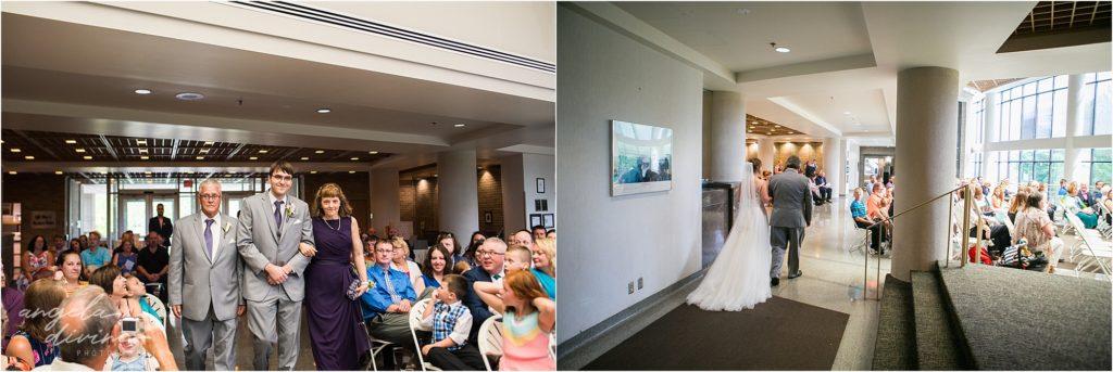 oak ridge conference center wedding ceremony indoors