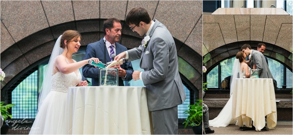 oak ridge conference center wedding ceremony sand ceremony
